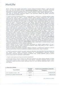 Úrazové poistenie-poistná zmluva 003