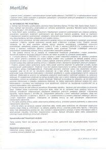 Úrazové poistenie-poistná zmluva 006